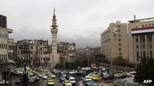 General view of Damascus in Syria on 1 March.