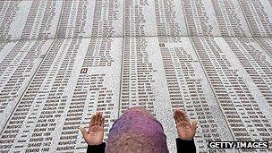 Memorial to victims of Srebrenica massacre