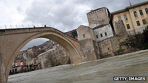 Mostar's medieval bridge