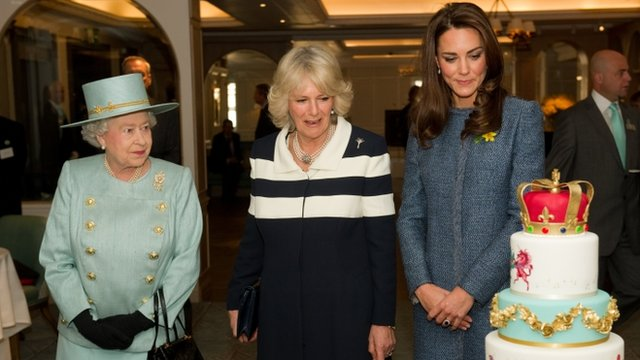 The Queen, the Duchess of Cambridge and the Duchess of Cornwall