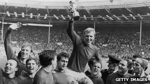 England celebrate 1966 World Cup win