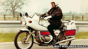 West Midlands Police - Policeman on a motorbike