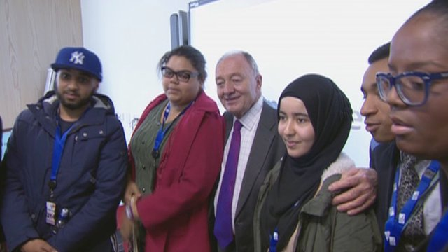 Ken Livingstone with London students