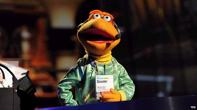 Scooter, one of the Muppets