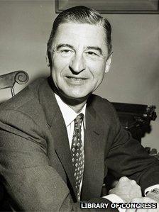 Theodore Geisel, aka Dr Seuss, in 1957