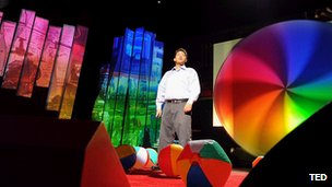 Speaker on the TED stage