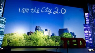 City 2.0 on TED stage