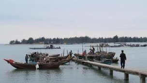 Fishing boats in Wukan