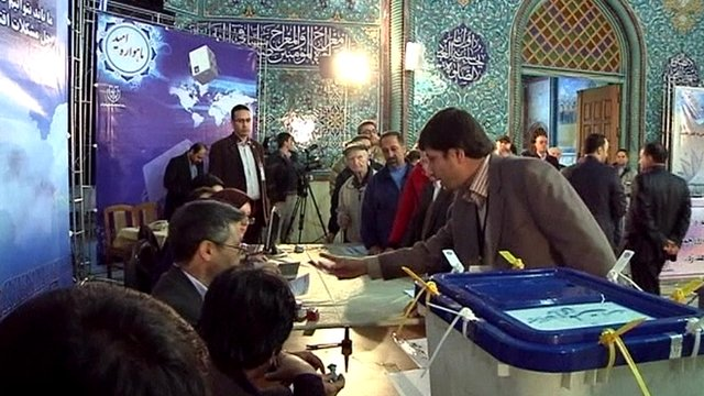 Voting in Tehran