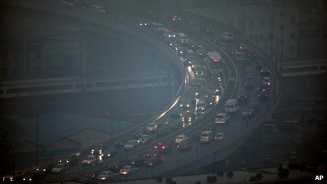 Cities in China have seen heavy air pollution amid rapid economic development