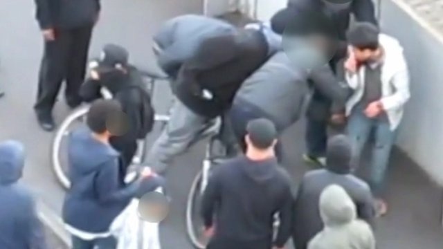 YouTube footage of Malaysian student incident during London riots