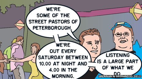 Street pastors cartoon strip