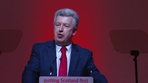Lewis Macdonald at the Scottish Labour Party conference