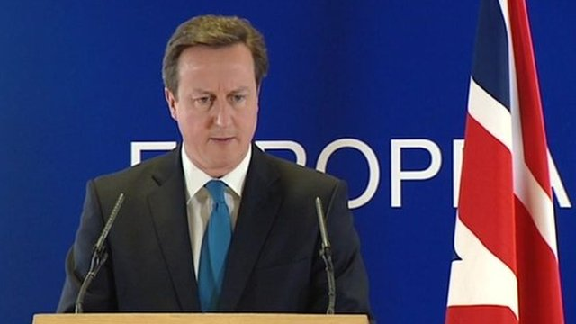 David Cameron at EU summit in Brussels