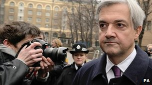 Chris Huhne arrives at Southwark Crown Court on 2 March 2012