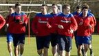 Rangers players training at Murray Park