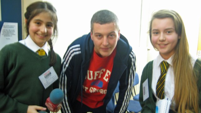School Reporters Silva and Rani meet urban artist, Devlin