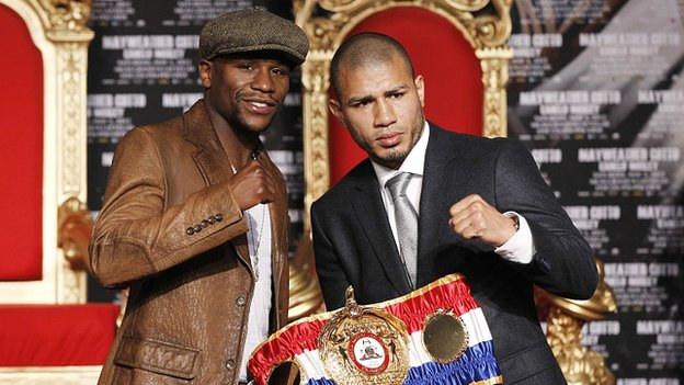 Floyd Mayweather and Miguel Cotto