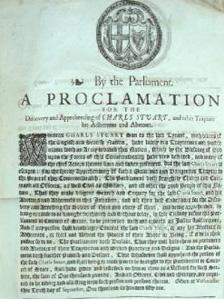 Charles II proclamation