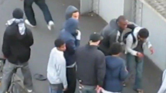 Mobile phone footage of Kafunda and Donovan robbing Ashraf Rossli