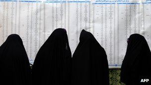 Women voters in Tehran, 2 March 2012