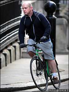 Steve Hilton on his bike