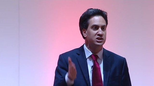 Ed Miliband speaks at the Scottish Labour Party Conference 2012.