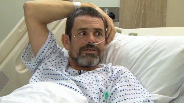 Paul Conroy speaks in hospital to Newsnight&#039;s Gavin Esler.