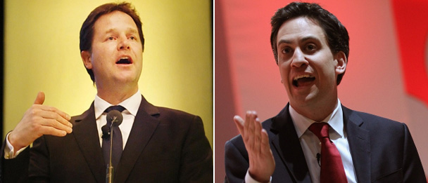 Clegg and Miliband challenge SNP