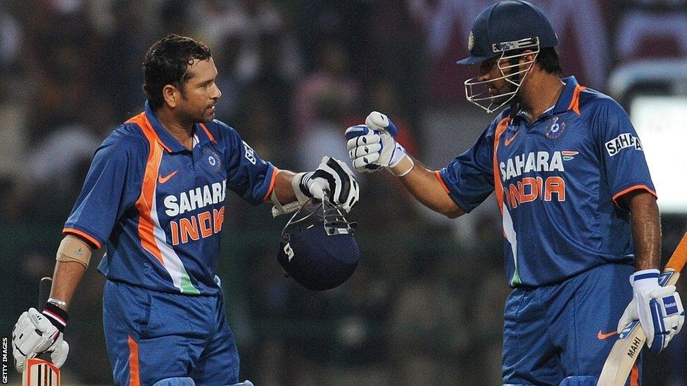 after scoring 200 not out  Sachin Tendulkar 200 Not Out