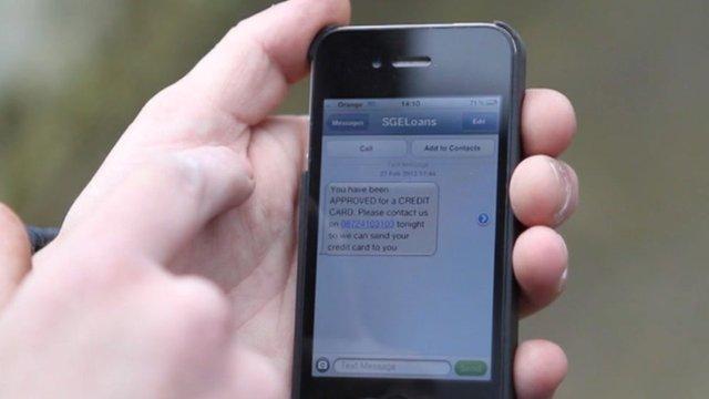 Spam text message