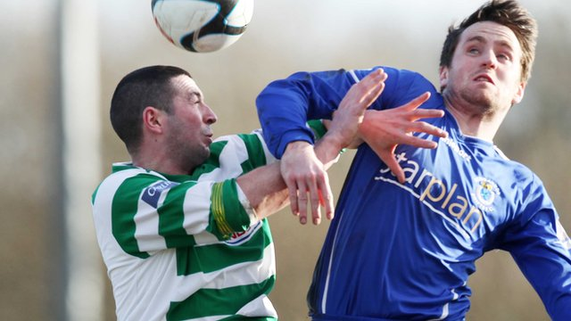 Match action from Donegal Celtic against Dungannon Swifts