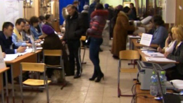 Moscow polling station