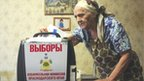 Woman votes in Krasnodar - 4/3/12