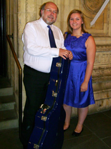Beth Rose and her father after their only other joint performance , in London