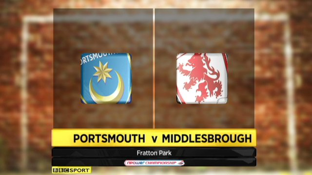 Highlights - Portsmouth 1-3 Middlesbrough