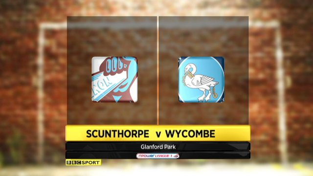 Highlights - Scunthorpe 4-1 Wycombe