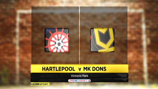 Highlights - Hartlepool 1-1 MK Dons
