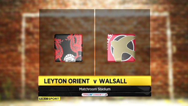 Highlights - Leyton Orient 1-1 Walsall
