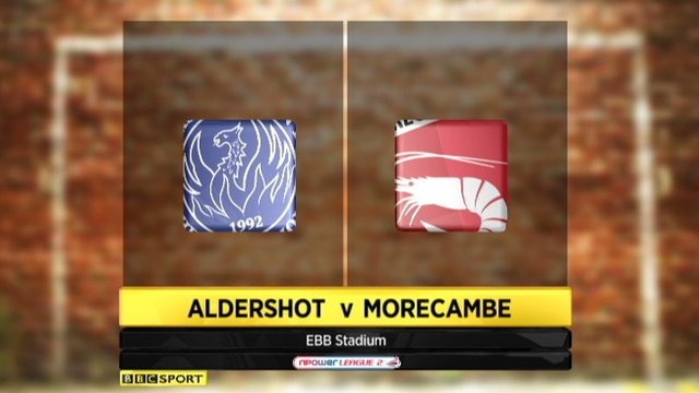 Highlights - Aldershot 1-0 Morecambe