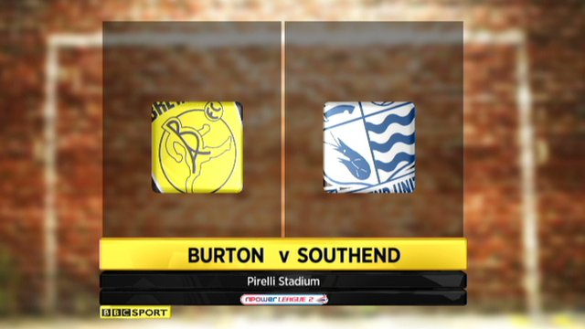 Highlights - Burton Albion 0-2 Southend