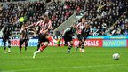 Nicklas Bendtner scores a penalty for Sunderland