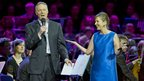 Rory Bremner and Kirsty Wark at the Sporting Fare concert in Glasgow