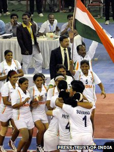 Indian team after their win (PTI)