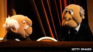 Statler and Waldorf at the Secret Policeman's Ball