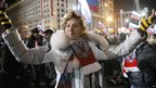 Putin supporter dances at Moscow rally - 4 March