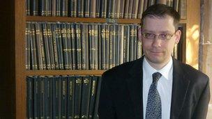 Librarian archivist David Morrison