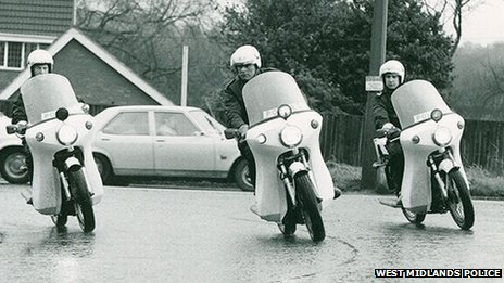 West Midlands Police motorbikes - Norton Commando motorcycles c1970