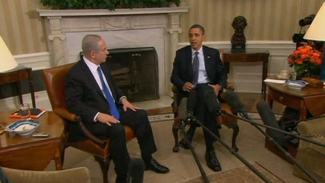 President Obama and Israeli prime minister Benjamin Netanyahu.
