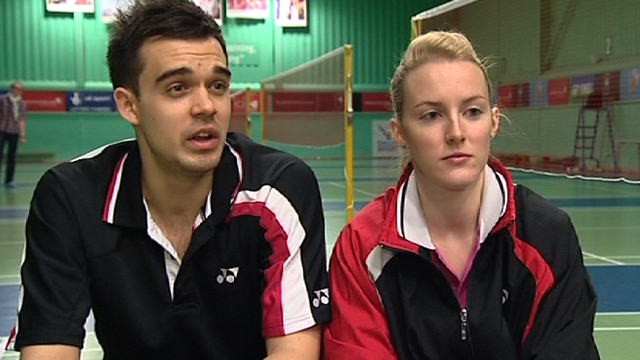 Chris Adcock and Imogen Bankier